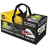 Image of AA Emergency Winter Car Kit Comprehensive in Zipped Canvas Bag Ref 5060114615281
