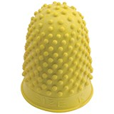 Quality Rubber Thimblettes - Size 2 Large / Yellow / Pack of 10