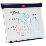 Image of Nobo Barracuda Half-size Desktop Easel / Drywipe / Includes B1 Pad & Marker