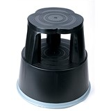 5 Star Mobile Step Stool / Plastic / Black