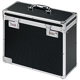 Robust Lockable Personal Filing Case / A4 / Black & Chrome