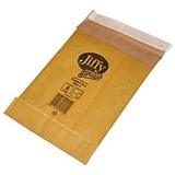 Jiffy No.0 Padded Bag Envelopes / 135x229mm / Brown / Pack of 10