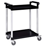 Image of 5 Star 2 Shelf Utility Tray Trolley - Capacity 100kg