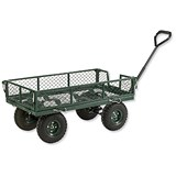 Image of Barton Four Sided Mesh Platform Truck / Capacity 250kg / Green