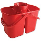 Image of Duo Mop Bucket / 15 Litre Capacity in Total / Red