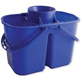 Duo Mop Bucket / 15 Litre Capacity in Total / Blue