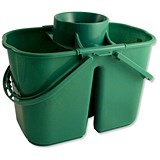 Duo Mop Bucket / 15 Litre Capacity in Total / Green