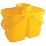 Duo Mop Bucket / 15 Litre Capacity in Total / Yellow