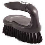 Image of Iron Scrubbing Brush - Black/Chrome