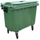 Image of Bentley Wheelie Bin / Rear Wheels / 660 Litre / Green