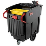 Image of Rubbermaid Mega Brute Waste Collection Cart / 450 Litre / W1330xD700xH1080mm
