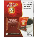 Image of Douwe Egberts Filter Coffee / 60g Sachets / Pack of 20