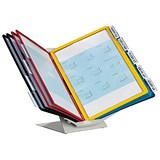Durable Desktop or Wall Mounting Display System / 10 Panels / A4 / Assorted