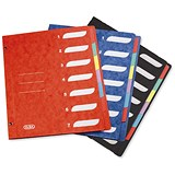 Image of Elba Part File Pressboard Elasticated 7-Part A4 Assorted Ref 100208957 [Pack 15]