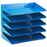 Image of Avery 5-Tier Steel Letter Rack / W380xD230xH335mm / Blue