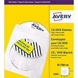 Image of Avery CD/DVD Paper Sleeves / 126x126mm / White / SL1760-100 / Pack of 100