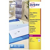 Image of Avery Laser Mini Labels / 65 per Sheet / 38.1x21.2mm / Clear / L7551-25 / 1625 Labels