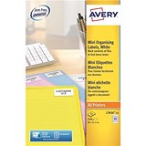 Avery Laser Media Labels for 35mm Film Slides / 84 per Sheet / 46.0x11.1mm / L7656-25 / 2100 Labels