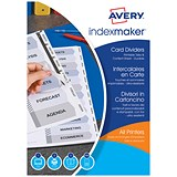 Image of Avery IndexMaker Dividers / 5-Part / Clear Tabs / A4 / White