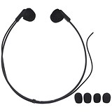 Image of Olympus Digital Headset Stereo for PC 3.5mm Plug Input Cable 3m Ref E102