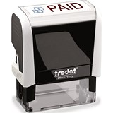 "Trodat Office Printy Self-inking Stamp / ""Paid"" / Reinkable / Red & Blue"