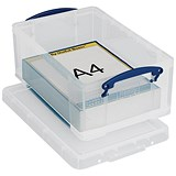 Image of Small (9 Litre) Really Useful Storage Box - Clear Strong Plastic