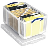 Image of 64 Litre Really Useful Storage Box - Clear Strong Plastic