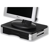 Image of Monitor/Printer Stand / Rotary Plate / 10kg Load / H74mm / Black & Silver