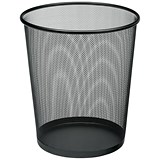 Image of Mesh Waste Bin / Lightweight / Scratch Resistant / W275xH350mm / Black