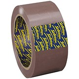 Sellotape Superseal Case Sealing Tape / Polypropylene / 50mmx66m / Buff / Pack of 6