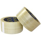 Image of Sellotape Superseal Case Sealing Tape / Polypropylene / 50mmx66m / Clear / Pack of 6