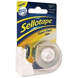 Image of Sellotape Super Clear Tape Roll and Dispenser / 18mmx15m / Pack of 6