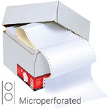 Image of Computer Listing Paper / 2 Part / A4 (11.66 inch x 235mm) / Microperforated / White & Yellow Sheets / Box (1000 Sheets)