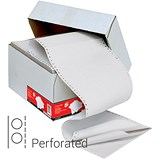 Computer Listing Paper / 3 Part / 11 inch x 241mm / Perforated / Plain White / Box (1000 Sheets)