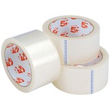 Image of 5 Star Large Clear Tape Rolls / 50mm x 66m / Pack of 3