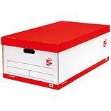 Image of 5 Star Jumbo Storage Boxes / Red & White / Pack of 5
