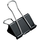 Image of 5 Star Foldback Clips - 19mm / Black / Pack of 12