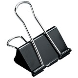 5 Star Foldback Clips - 25mm / Black / Pack of 12