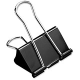 5 Star Foldback Clips - 32mm / Black / Pack of 12