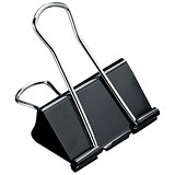 Image of 5 Star Foldback Clips - 51mm / Black / Pack of 12
