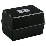 Image of 5 Star Card Index Box / Capacity: 250 Cards / 203x127mm / Black