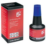 5 Star Endorsing Ink / 28ml / Blue