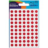 Image of Avery Coloured Labels / 8mm Diameter / Red / 32-301 / 10 x 560 Labels