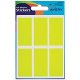 Image of Avery Coloured Labels / 25 x 50mm / Fluorescent Yellow / 32-223 / 10 x 36 Labels