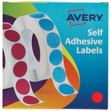 Image of Avery Dispenser for 19mm Diameter Labels / Red / 24-506 / 1120 Labels