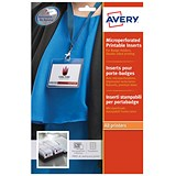 Image of Avery Laser-printable Name Badges Refill Kit / 8 per Card / W86.5xH55.5mm / L7418-25UK / 25 Sheets