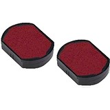 Trodat Replacement Ink Pad 646019 / Red / Pack of 2