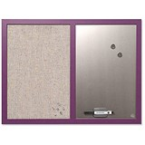 Image of BiSilque Combination Notice & Magnetic Board / W600xH450mm / Lavender