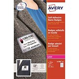 Image of Avery Laser Name Badge Labels / Self-adhesive / 80x50mm / Red Border / L4786-20 / 200 Labels