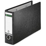 Image of Leitz Board A4 Lever Arch Files / Oblong Landscape / 77mm Spine / Black / Pack of 4
